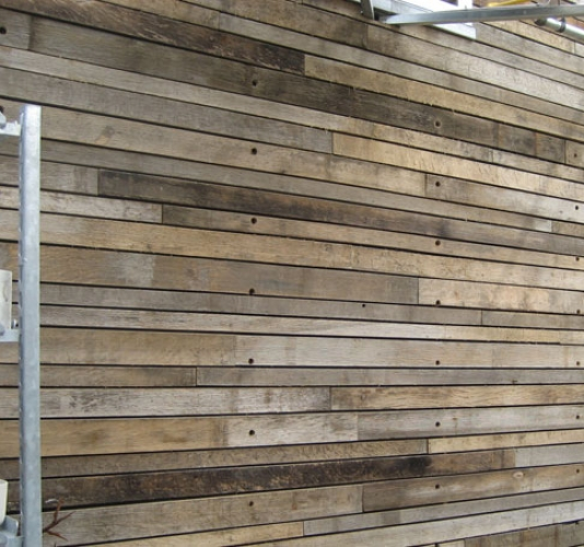 Reclaimed Wood Wall Cladding In Garden Spaces