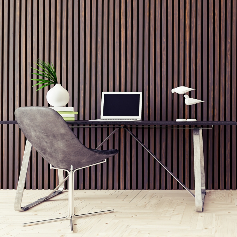 Slatted Wall Panels Home Office